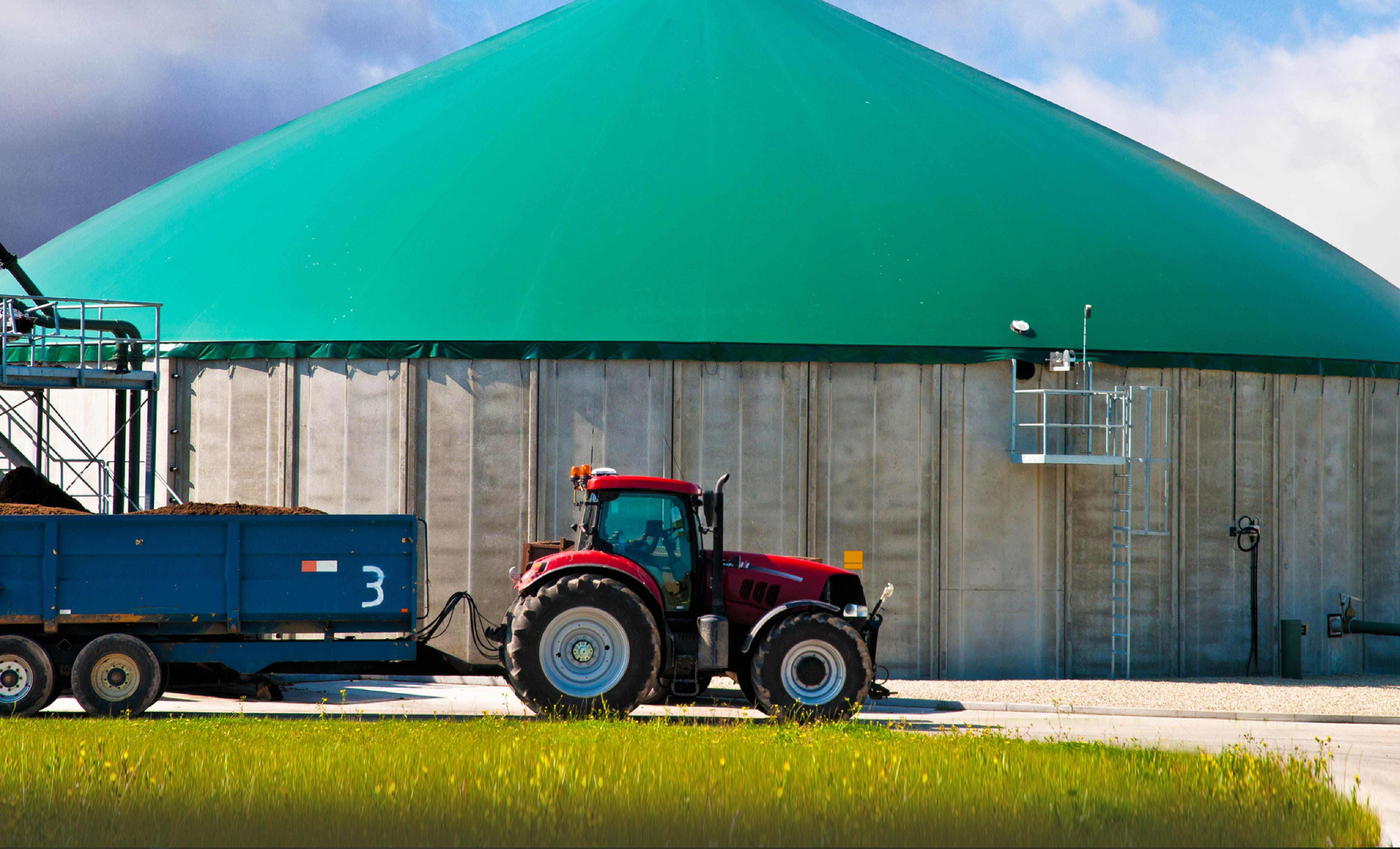 Tractor and Shed